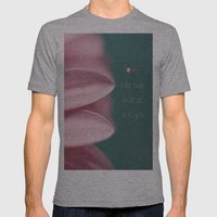 Let Love Grow Mens Fitted Tee Athletic Grey SMALL