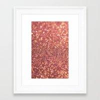Rose Glitter Framed Art Print