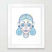 A Rare Girl Framed Art Print