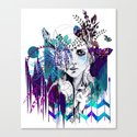 Tribal Girl - Colourway - Canvas Print