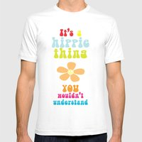 It's a hippie thing Mens Fitted Tee White SMALL