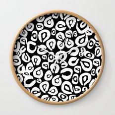 LEOPARD! (black) Wall Clock