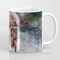 Tiger in war bonnet Mug