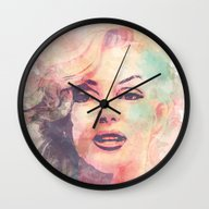 Wall Clock featuring Marilyn Monroe by Nechifor Ionut