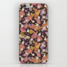Pink Abstract Floral Haze iPhone & iPod Skin