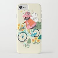 bee iPhone & iPod Cases featuring Bee by ilana exelby