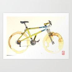 Coffee Wheels #15 Art Print