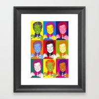 Liberace 9 Times, Che Gu… Framed Art Print
