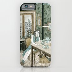 At home with a pug iPhone 6 Slim Case