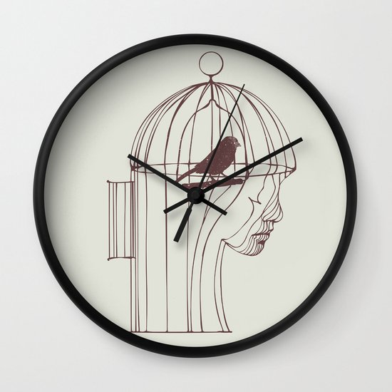 Be Alone Wall Clock