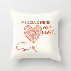 Mend Your Heart Throw Pillow