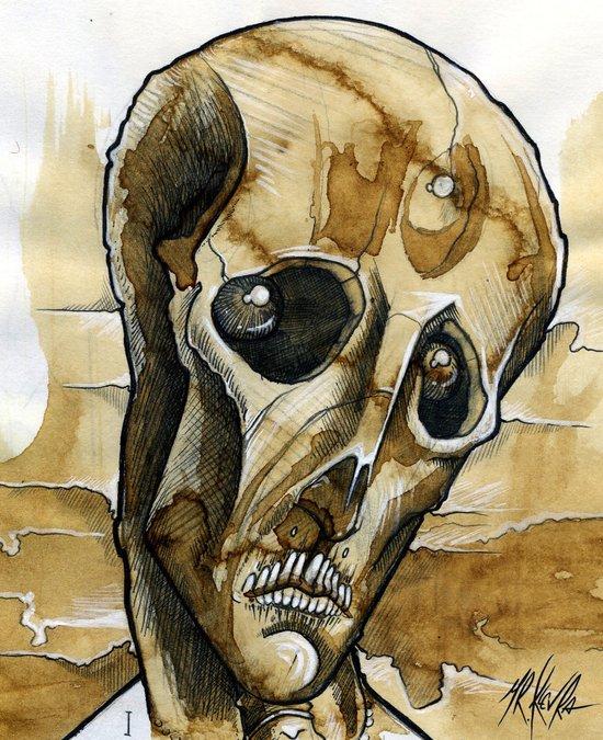 dead head Art Print