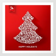 Happy Holidays - Christm… Art Print