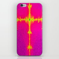 Abstract 3d block image iPhone & iPod Skin