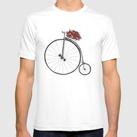 Christmas Bicycle Mens Fitted Tee White SMALL