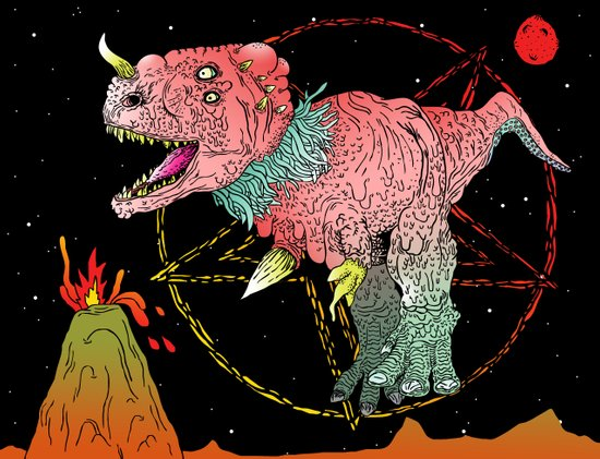 Necro-Dino From Planet Hell Art Print