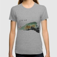 Spring of Pin-Din Womens Fitted Tee Athletic Grey SMALL