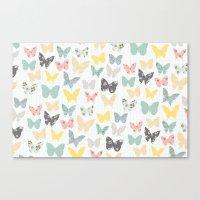 Butterflies Pattern Canvas Print