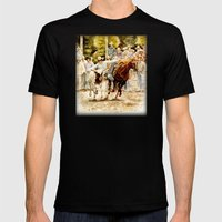 Rodeo Mens Fitted Tee Black SMALL