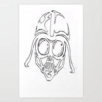 Baby Vader Art Print