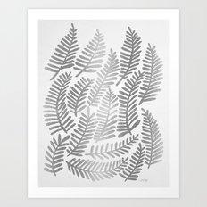 Silver Fronds Art Print