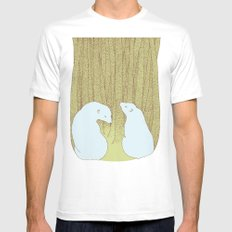 bears in the forest Mens Fitted Tee SMALL White