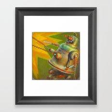 BitchBot Attacks DickBot Framed Art Print