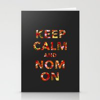 KEEP CALM AND NOM ON Stationery Cards
