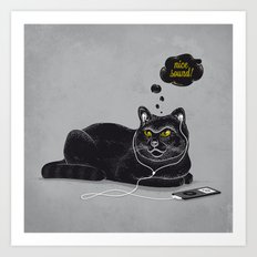Chilling Cat Art Print