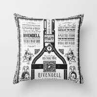 Lord Of The Rings Rivend… Throw Pillow