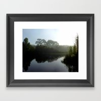 Winter Lake Framed Art Print