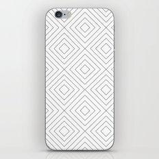 Squares white iPhone & iPod Skin