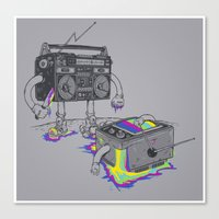 Revenge Of The Radio Sta… Canvas Print