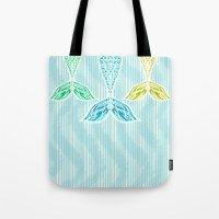 Mermaids and Stripes Tote Bag