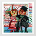 Cossacks russian Art Print