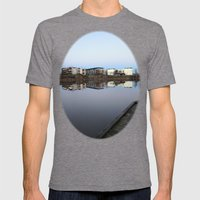 Mirrored Houses Mens Fitted Tee Tri-Grey SMALL