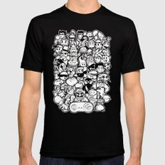 Super 16 bit  Mens Fitted Tee Black SMALL