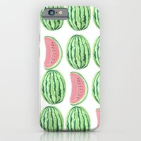 iPhone Cases featuring Watermelon Mania by Bouffants and Broken Hearts