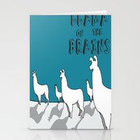 Llama on the Brains 2 Stationery Cards