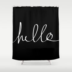 Hello Shower Curtain