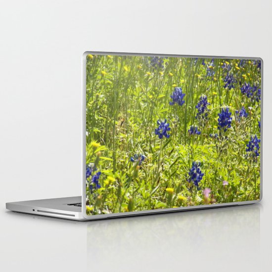 Texas Bluebonnets Laptop & iPad Skin
