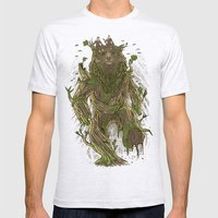 Treebear Mens Fitted Tee Ash Grey SMALL