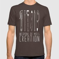 Weapons Of Mass Creation (on grey) Mens Fitted Tee Brown SMALL