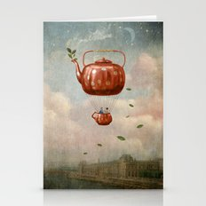 Tea For Two At Dusk Stationery Cards