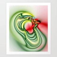 Water Circles Art Print