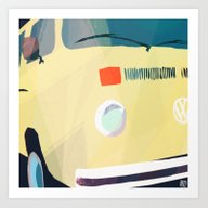 Art Print featuring Kombi Klose 2 by Buster Fidez
