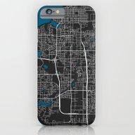 Anchorage City Map Black… iPhone 6 Slim Case