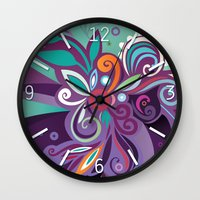 Floral curves of Joy Wall Clock