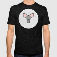 ALDWYN THE BAT Mens Fitted Tee Tri-Black SMALL