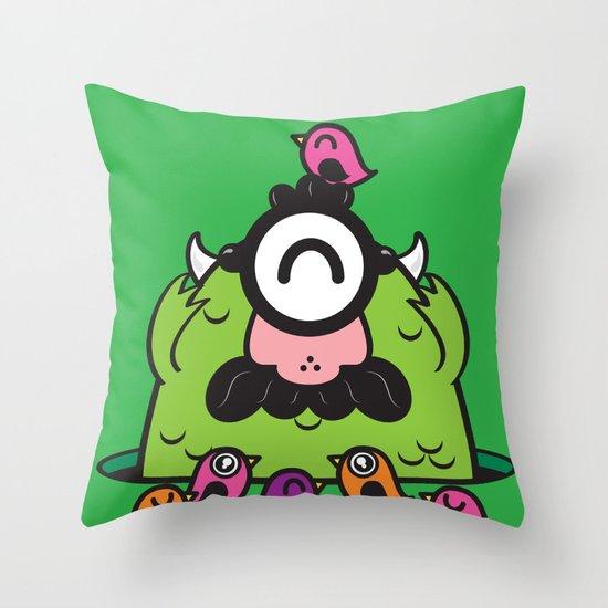 Chameleonster Throw Pillow